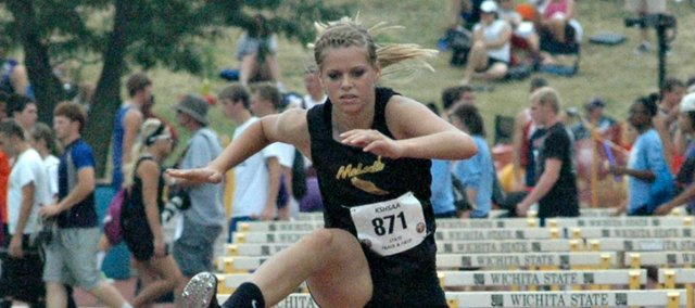 Summer Cerny earned team points in two events at Friday's McLouth Invitational.
