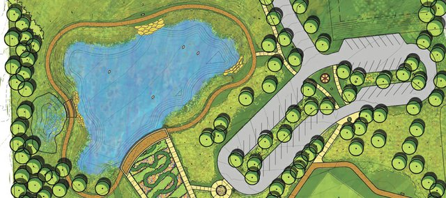 This master plan shows how Erfurt Park, located near 71st Street and Gleason Road, will be developed.