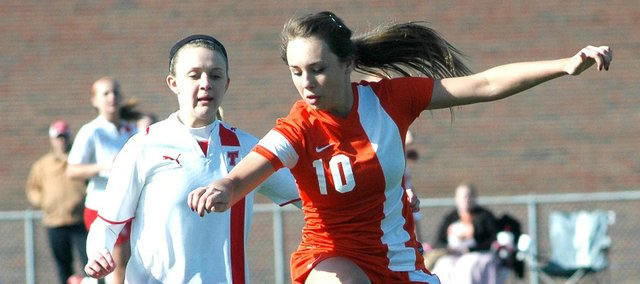 Haley Hoffine and the BSHS girls soccer team couldn't hold a late lead Friday at Tonganoxie.