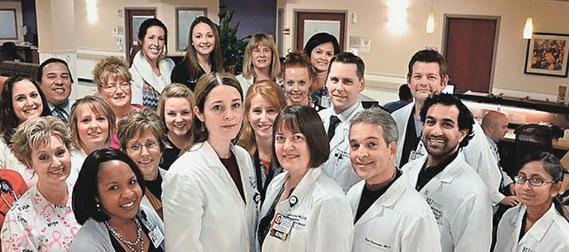 Shown here is the staff of the University of Kansas Hospital's stroke center, one of the premiere stroke centers in the nation.