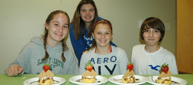 "Teams had 30 minutes to prepare a dessert at Basehor Community Library""s Teen Iron Chef competition Tuesday."
