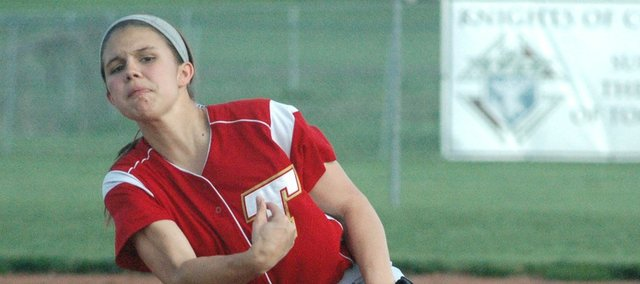Sammi Bates allowed just one run in seven innings as the Chieftains split a doubleheader with Basehor-Linwood on Tuesday.