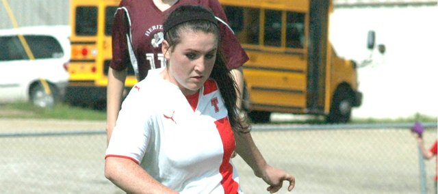 Molly Welsh was one of seven Chieftains to score in a 12-2 win Thursday against Heritage Christian Academy.