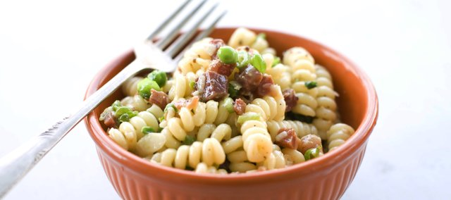 A creamy winter favorite gets cool enough for summertime in this Carbonara Pasta Salad.