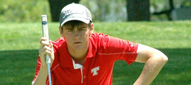 Junior Drew Sandburg is one of three Tonganoxie High golfers who will represent the Chieftains at next week's Class 4A state tournament in Cheney.
