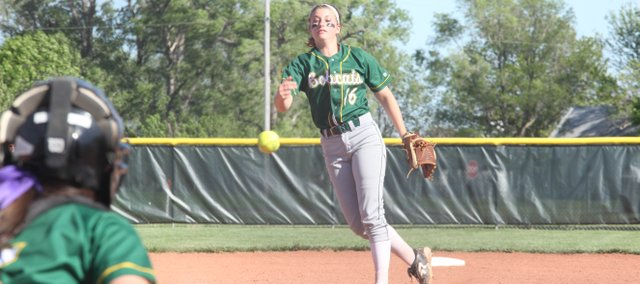BLHS sophomore Asia Larsen struck out six BSHS batters in a 9-5 loss in Tuesday's regional final.