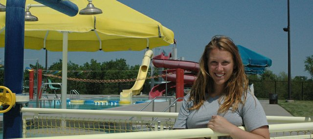 Jordyn Swalley is the new aquatics director for Bonner Springs Parks and Recreation. Now that the pool is open, she hopes to see growth in the city's swim team and swimming lessons.