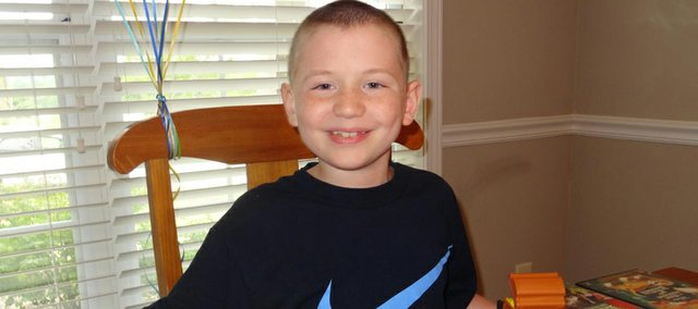 Michael Peterson, 8, was diagnosed with cancer two years ago and serves as the inspiration for his family's Relay For Life team.