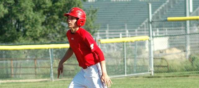 Brady Swedo went 2-for-4 and scored two runs in Tonganoxie 13-4 win against Lansing on Wednesday.