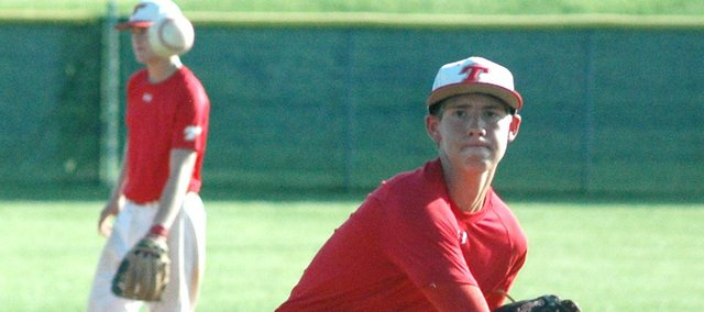 Travis Woods threw a complete-game shutout Wednesday at Piper. Tonganoxie swept Piper to improve to 6-1 on the season.