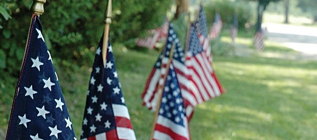 The Masons and Boy Scouts will once again place American flags on all Baldwin City lawns for the Fourth of July. The American Legion, Rotary club and local businesses helped with the effort.