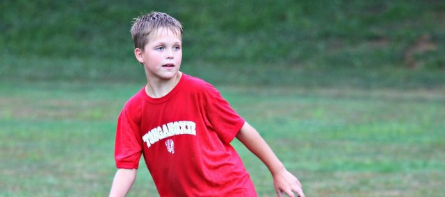 Logan Cox was one of 31 local youths at last week's British Soccer Camp.
