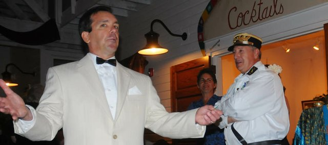 "Last year's ""Casablanca"" themed Lumberyard Arts Center summer fundraiser prompted LAC President Tony Brown to dress as the movie's Humphrey Bogart character and Marion Constantinescu to dress as Captain Louis Renault. Organizers are hoping Saturday's ""An Evening with Hitchcock"" will inspire more movie-themed outfits."