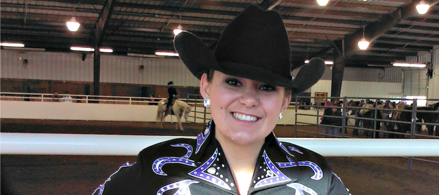 Tonganoxie High grad Makayla Leslie will soon begin her second equestrian season at Redlands Community College in El Reno, Okla. Leslie was new to equestrian last year, but has worked with horses for several years.