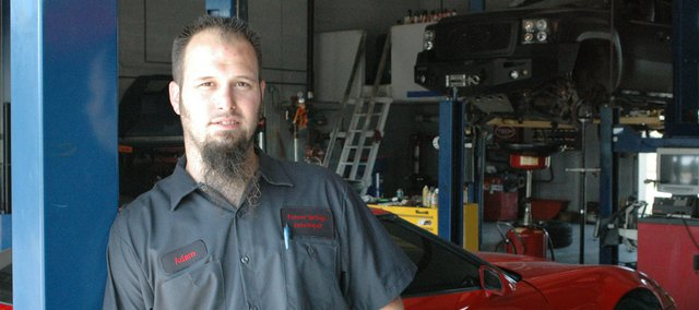 Adam Koch of Bonner Springs recently opened his own business, Bonner Springs Auto Repair, in the building formerly occupied by Meineke on Canaan Drive.