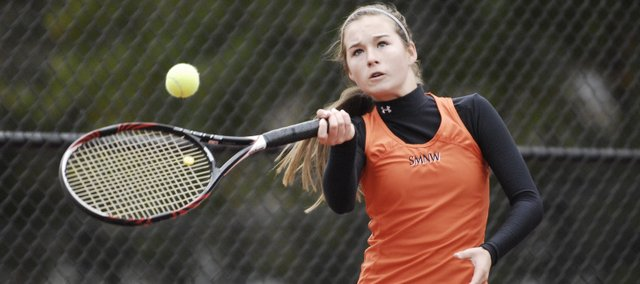 SMNW's Colleen Freeman returns after advancing to the 6A state girls tennis tournament last season.