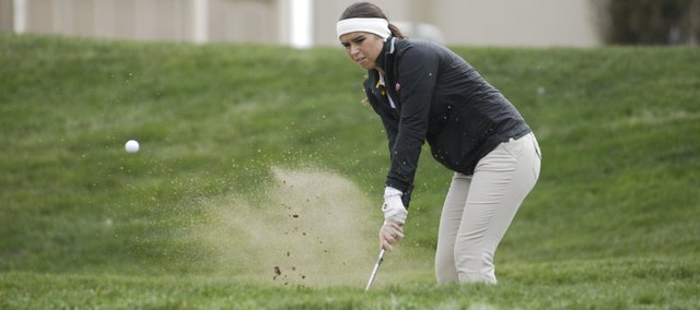 Candice Jennings and the BLHS girls golf team opened its season last week with a pair of tournaments. Jennings is one of several multisport student-athletes competing on the Bobcats' girls golf team.