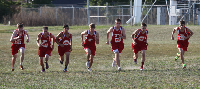 The THS boys cross country team defeated Lansing in its season opener on Thursday, 19-39.