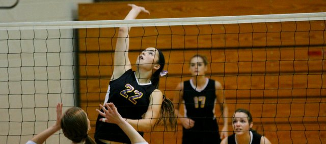 Konner Patterson and the McLouth High volleyball team placed fourth Saturday at their home tournament. The Bulldogs are off to a 5-2 start.