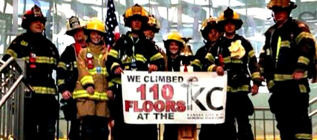 Tonganoxie City and Reno Township firefighters participated in Sunday's 9/11 Climb in Kansas City, Mo.