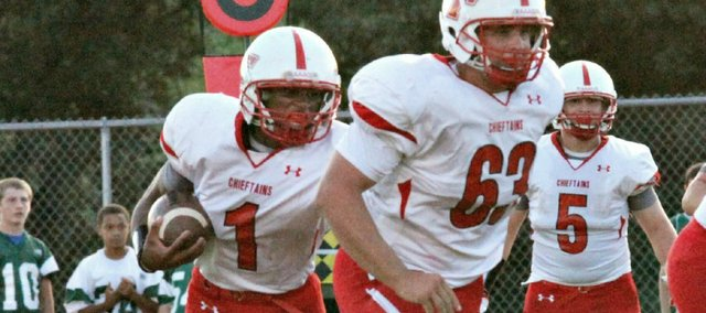 A big day against Piper could put Tonganoxie High senior Cole Holloway over 500 rushing yards this season.