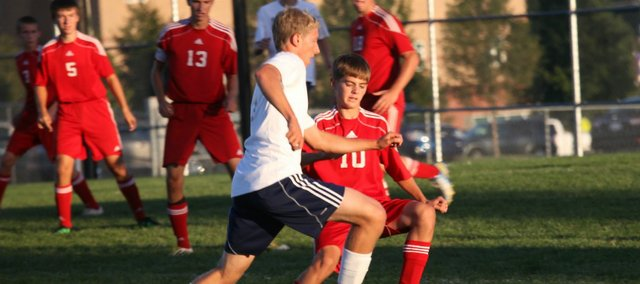 Logan Williams and the Tonganoxie High soccer team couldn't find the net in a 5-0 loss Monday at Mill Valley.