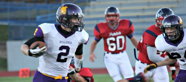 Nick McAferty scored the only touchdown of the night in McLouth High's 6-0 win against Christ Preparatory Academy.
