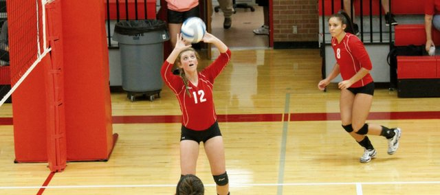Lauren Jackson and the Tonganoxie High volleyball team will host their annual home invitational at 8 a.m. Saturday.