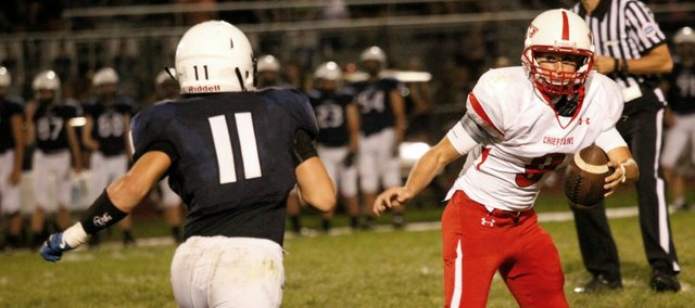 Tyler Ford will try to help get Tonganoxie High back in the win column Friday at Bishop Ward.
