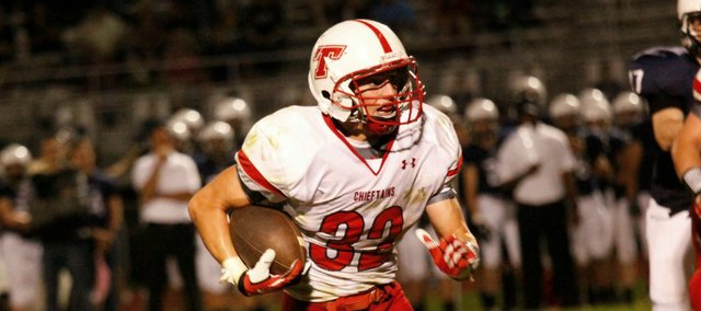 Jared Sommers has seen production on offense, defense and special teams in 2013. Sommers will try to help Tonganoxie High to a homecoming victory against Turner on Friday.