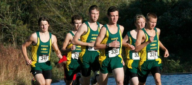 The Basehor-Linwood boys cross country team finished second at Thursday's Kaw Valley League meet in Lansing.