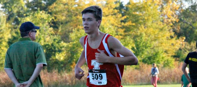 Drew Cook led the Tonganoxie boys with a 16th-place finish at Thursday's Kaw Valley League meet in Lansing.