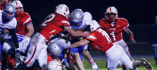 The Tonganoxie High defense nearly pitched its second shutout of the season Friday, limiting Perry-Lecompton to a single touchdown in the fourth quarter.