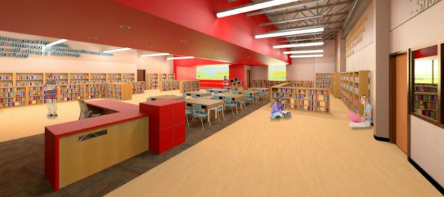 Artist's renderings of interior for the new Tonganoxie Elementary School.