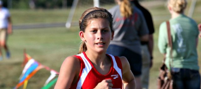 Tonganoxie High freshman Emily Chambers will represent the Chieftains Saturday at the Class 4A state cross country meet in Wamego.