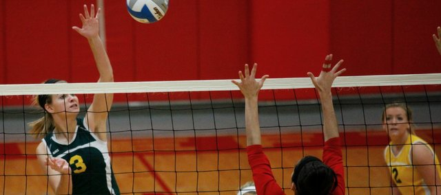 Madi Osterhaus had 16 kills at Saturday's sub-state tournament, but Basehor-Linwood fell to Piper in the championship match.