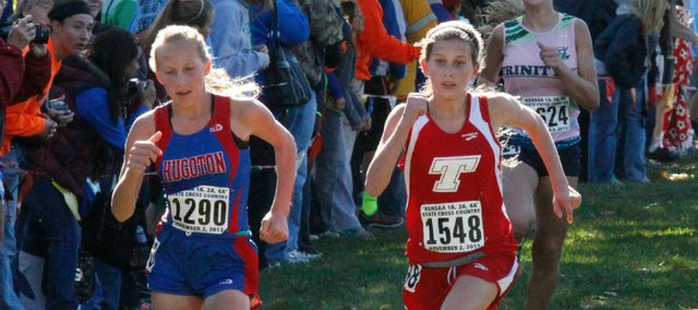 Emily Chambers represented Tonganoxie at state in her first high school season. She finished 54th in the 4A girls race.