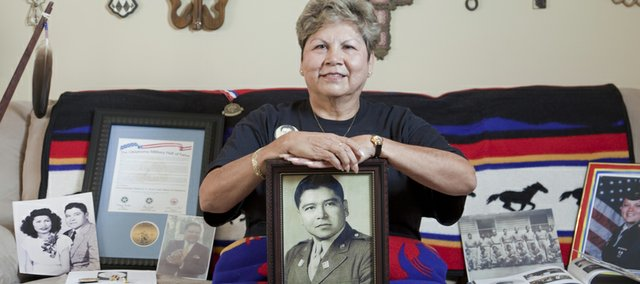 Gail Reed, of Baldwin City, is heading to Washington, D.C., to pick up a Congressional Gold Medal that is being presented posthumously to her father, a Comanche code talker in World War II.