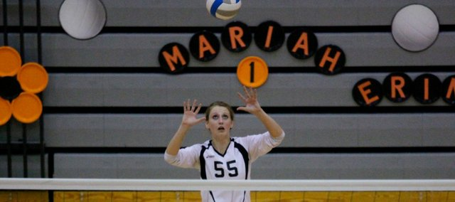 Marissa Martin was one of 12 Tonganoxie High fall athletes to earn first-team All-Kaw Valley League selections.