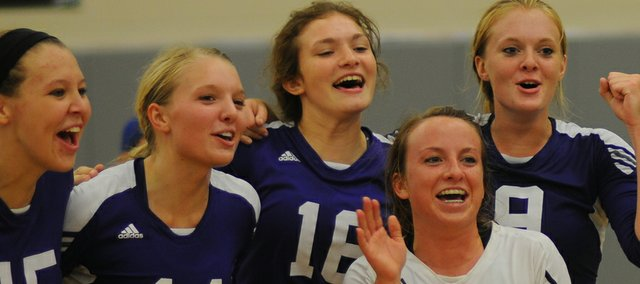 Five Baldwin High School volleyball player were chosen the post-season All-Frontier League teams by league coaches. They include junior Alexia Stein (150), first team; junior Jordan Hoffman (9) first team; junior Corey Valentine (14) second team; senior Morgan Lober (not pictured), second team; and senior Madeline McCrary (21), honorable mention.