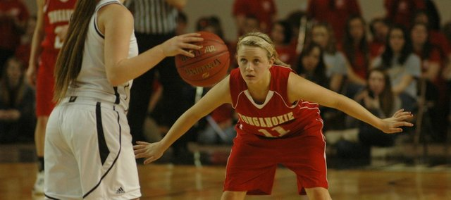 Emily Soetaert joins fellow senior Katelyn Waldeier as a returning starter from last year's state team. The THS girls must replace nearly 60 percent of their offense from 2012-13.