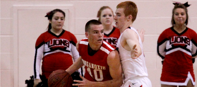 Jack Dale had a team-high 14 points in Tonganoxie's 72-56 loss at Lansing.