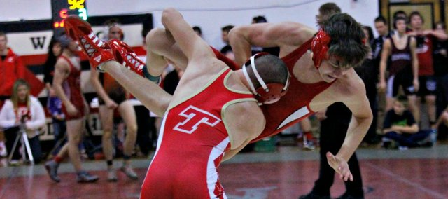 Jordan Boudreaux and the Tonganoxie High wrestling team will welcome 11 schools to town Saturday for the annual Randy Starcher Memorial Invitational.