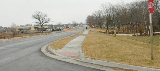 The city will link the sidewalk KDOT installed from 10th to 11th streets last fall to the Intermediate School property line next year. It will be left to the school district to connect that new walkway to existing sidewalk on the schoolyard.