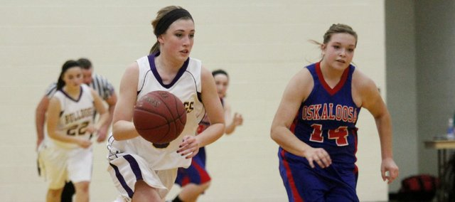 Kayla Steffey led all scorers with 18 points in McLouth's come-from-behind win against rival Oskaloosa.