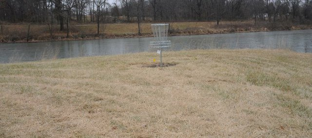 An 18-hole disc gold course is expected to get fans of the sport to the Baldwin City Lake.
