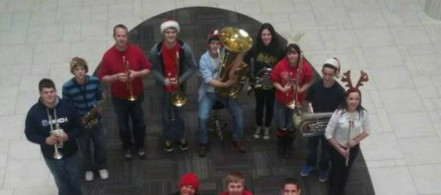 McLouth High School instrumental and vocal students recently perform at West Ridge Mall in Topeka.