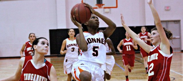 Abrise Sims had four points in Bonner Springs' 55-47 win Tuesday against Tonganoxie.