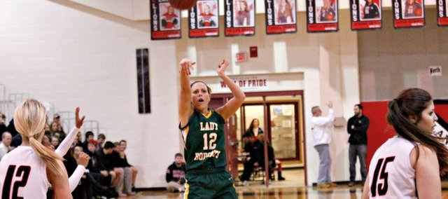 Amber Garver had a game-high 17 points in a 55-48 win Friday at Lansing.