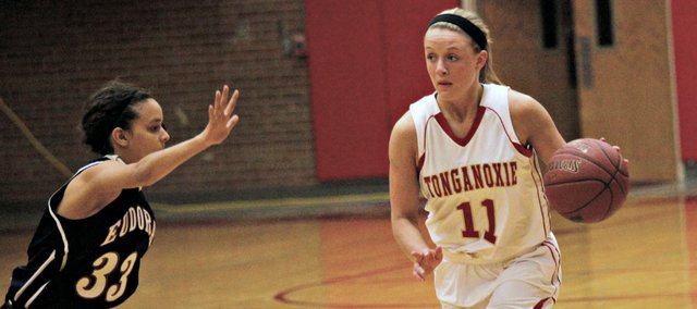 Emily Soetaert scored a team-high 14 points in Tonganoxie's 55-47 loss to Silver Lake in the Tonganoxie Invitational semifinals. The Chieftains will play Lansing in Saturday's third-place game.